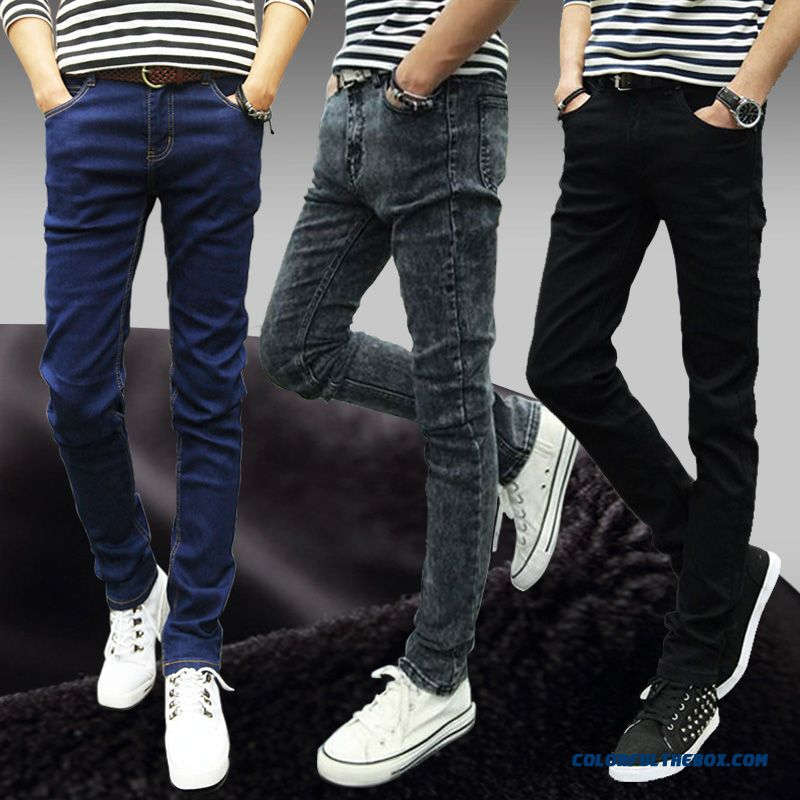 Autumn Trend Of Young Men's Jeans Slim Simple Straight Cheap High Quality