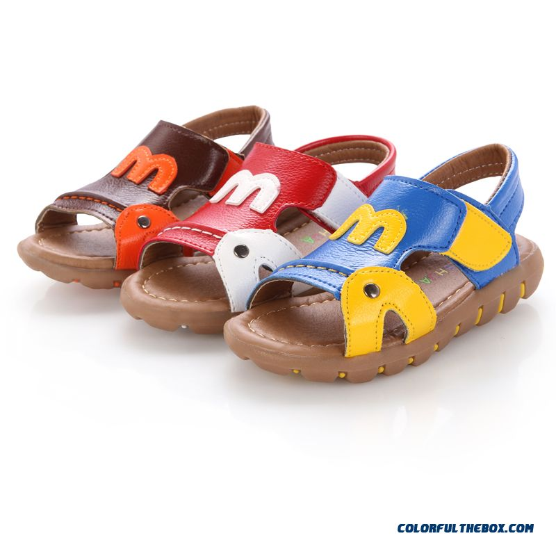 Baby Boy Child Cowhide Leather Sandals Clearance Specials