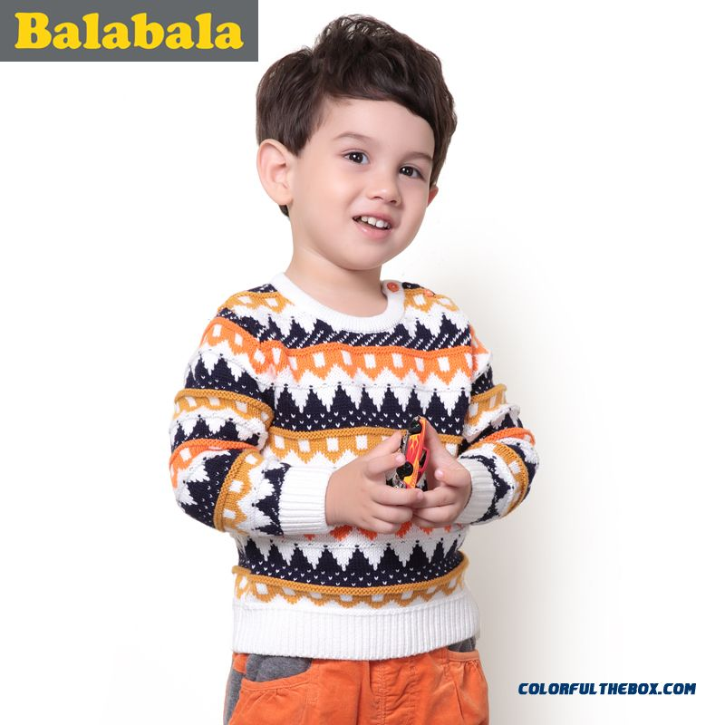 Baby Boy Sweater Children Pullover New Winter Sweater Round Neck For Kids