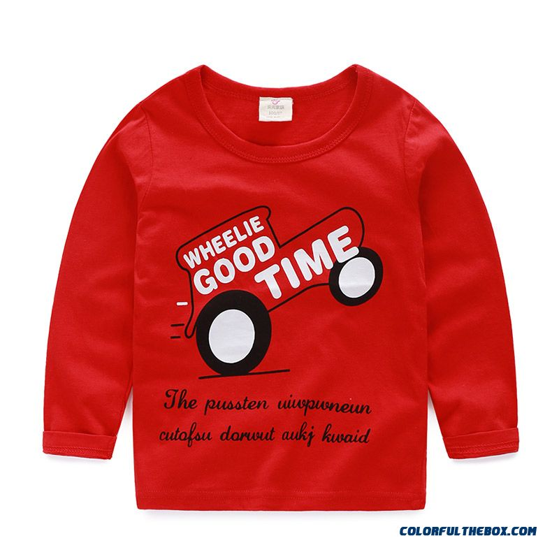 Baby Boys And Girls Kids Long-sleeved Comfortable T-shirt Bottoming Cheap Wholesale - more images 1