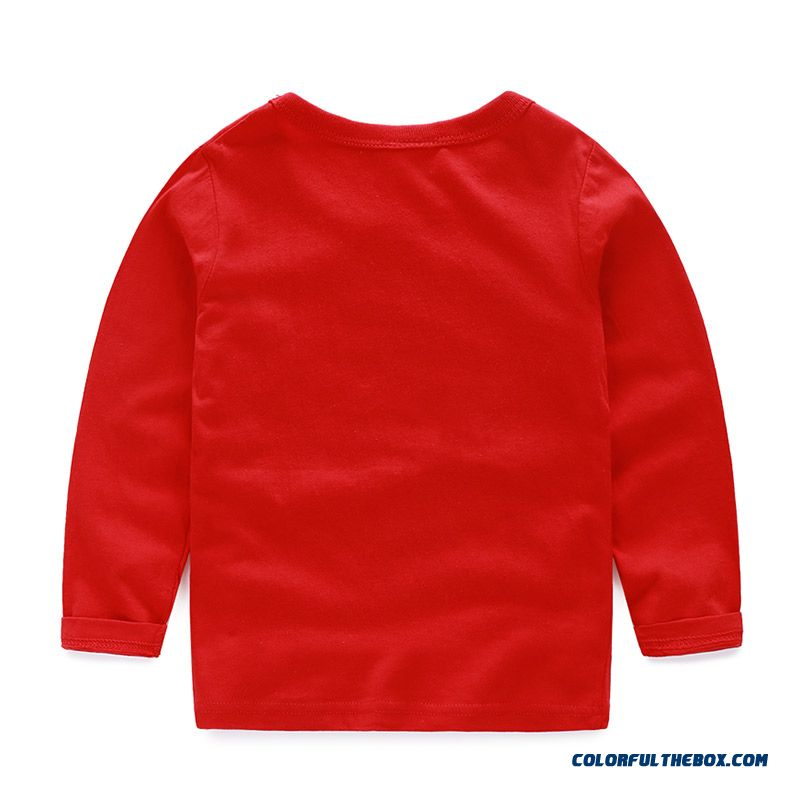 Baby Boys And Girls Kids Long-sleeved Comfortable T-shirt Bottoming Cheap Wholesale - more images 2