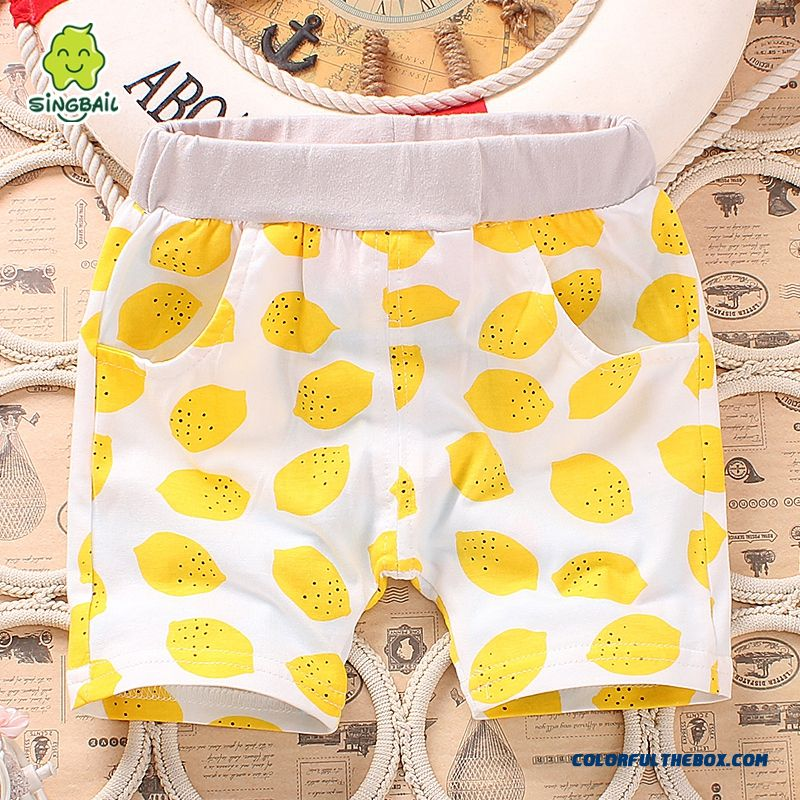Baby Fifth Pants Boys And Girls Pants Summer Lids Clothing Free Shipping - more images 1