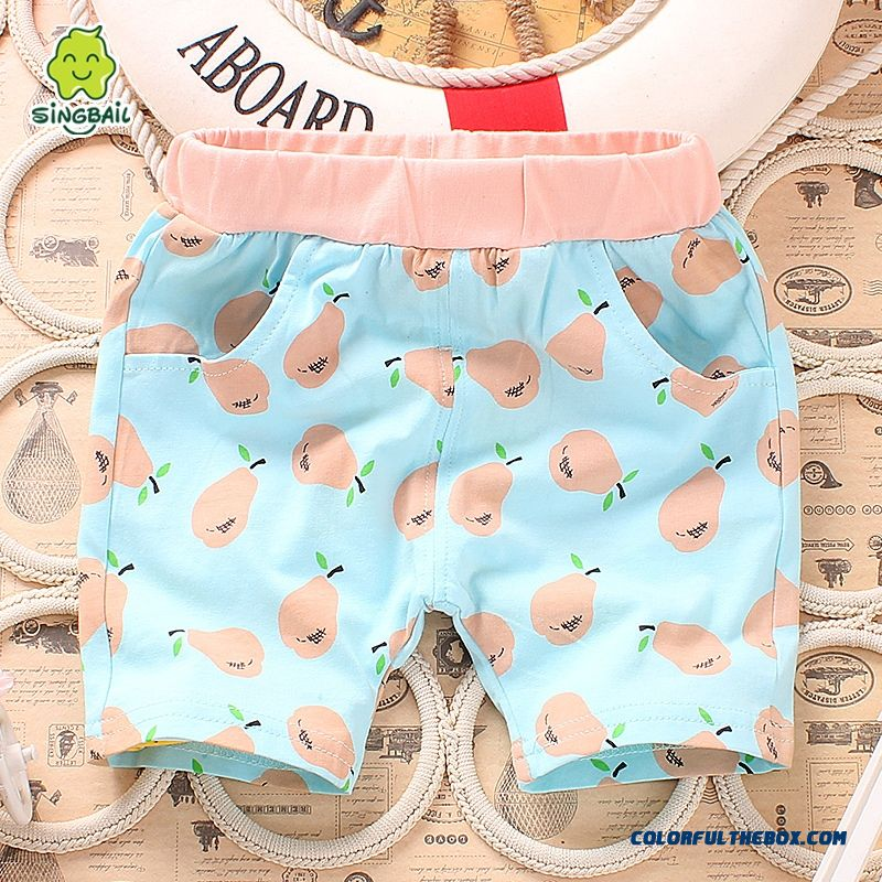 Baby Fifth Pants Boys And Girls Pants Summer Lids Clothing Free Shipping - more images 4
