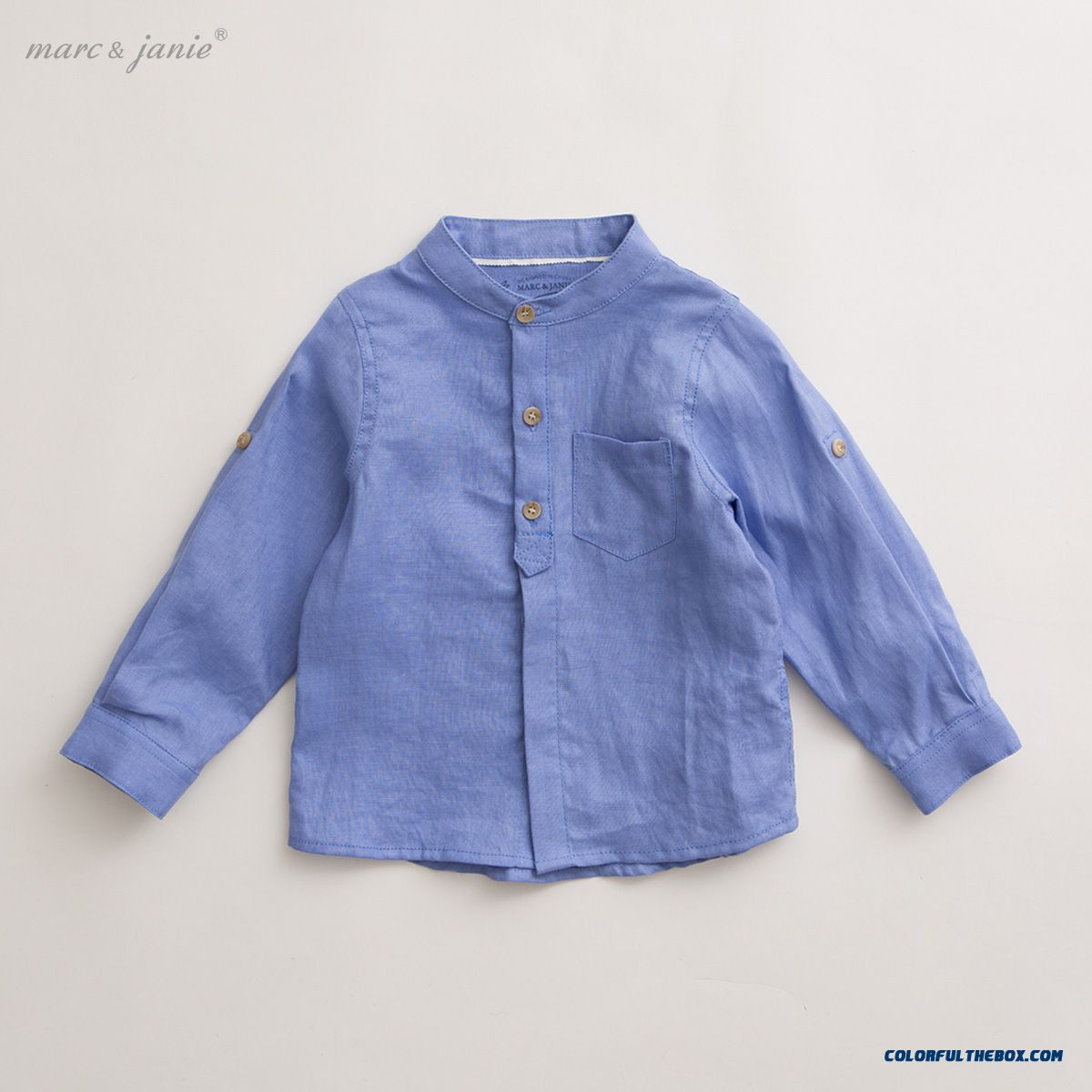Baby Summer Blouses Baby Boys Long-sleeved Linen Shirt Kids 13202 Purple
