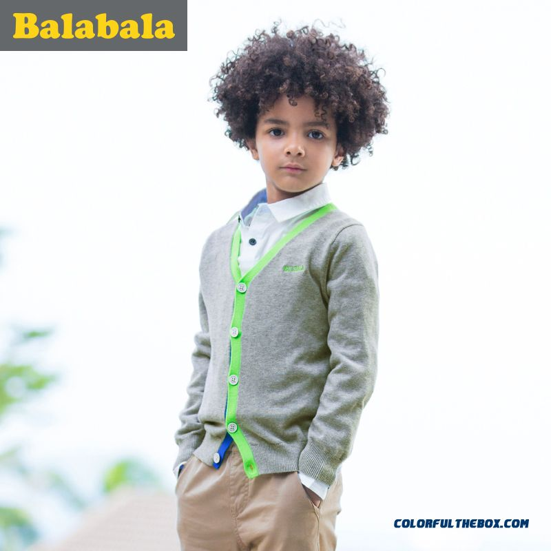 Balabala Kids Clothing Big Kids Boy Sweater 2016 Latest Design In Spring New Kids' Sweater