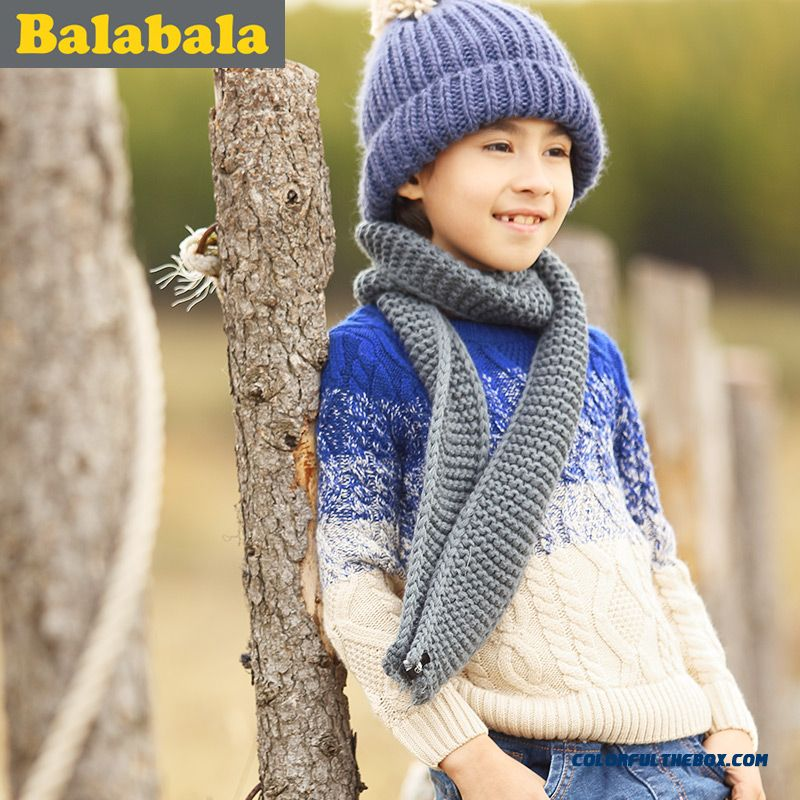 Balabala Kids Clothing Boy Sweater 2016 New Pullover Round Neck Sweater Coat Thicker Kids' Clothing