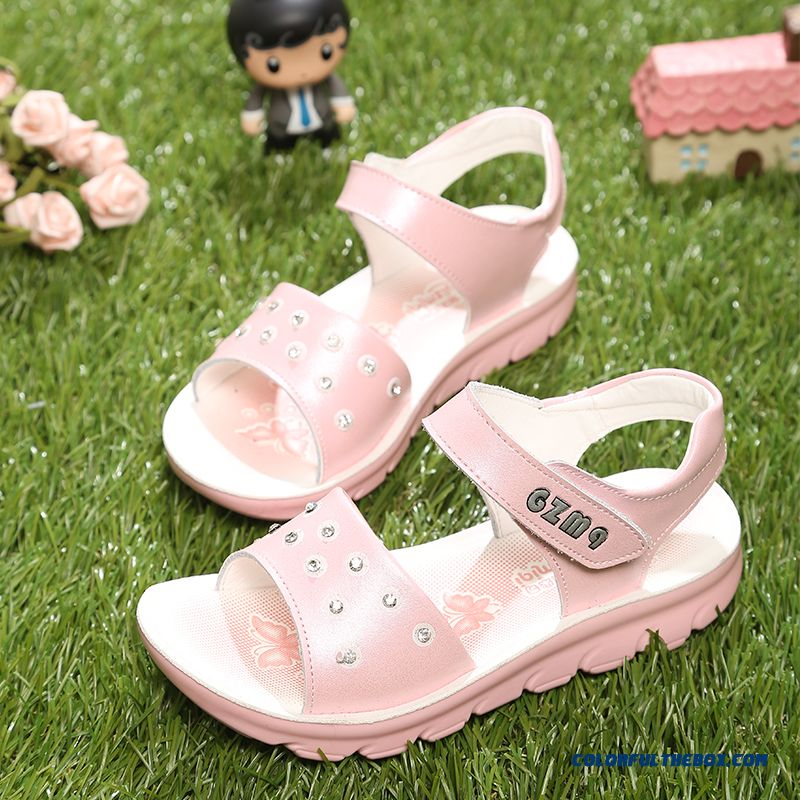 Beach Sandals Nobility Cow Split Leather Variety Of Styles Kids Shoes