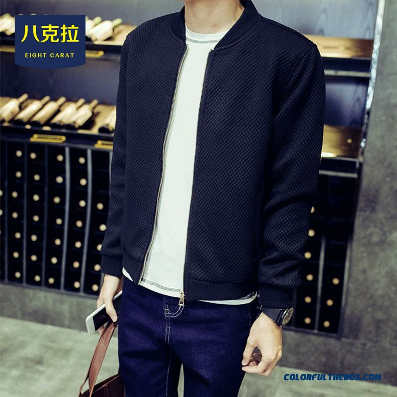 Best Selling New Winter Men Simple Baseball Collar Larde Size Jacket