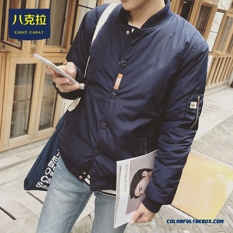 Best Selling New Winter Men Simple Solid Colar Baseball Coats Tide