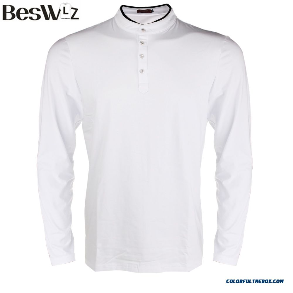 Beswlz New Autumn Men Tops Long Sleeve T Shirts Casual Cotton Slim Fitted T-shirts Men Brand Clothing Tshirt Homme Plus Size