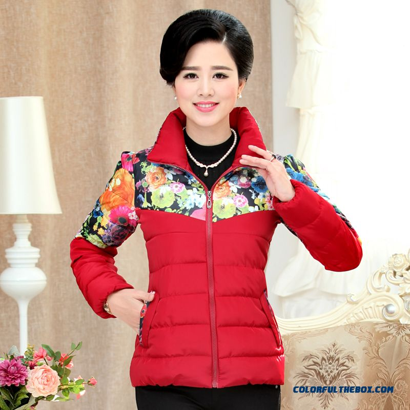 Big Promotion Autumn And Spring New Middle Aged And Elderly Women Large Size Cotton Winter Coat