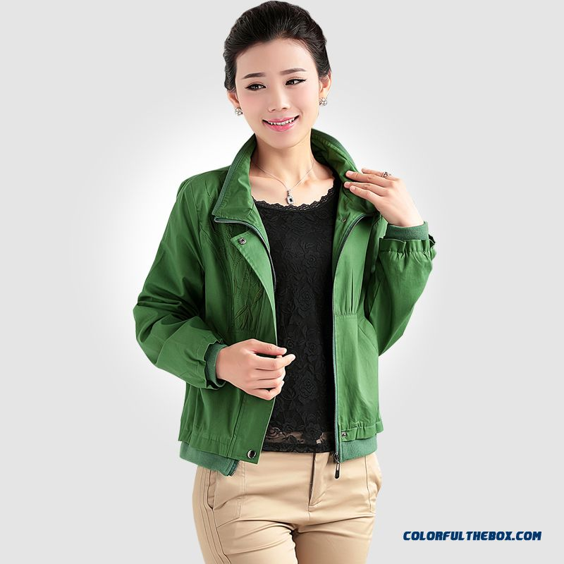 Big Promotion Autumn New Middle-aged Lady Large Size Women Embroidered Casual Jacket