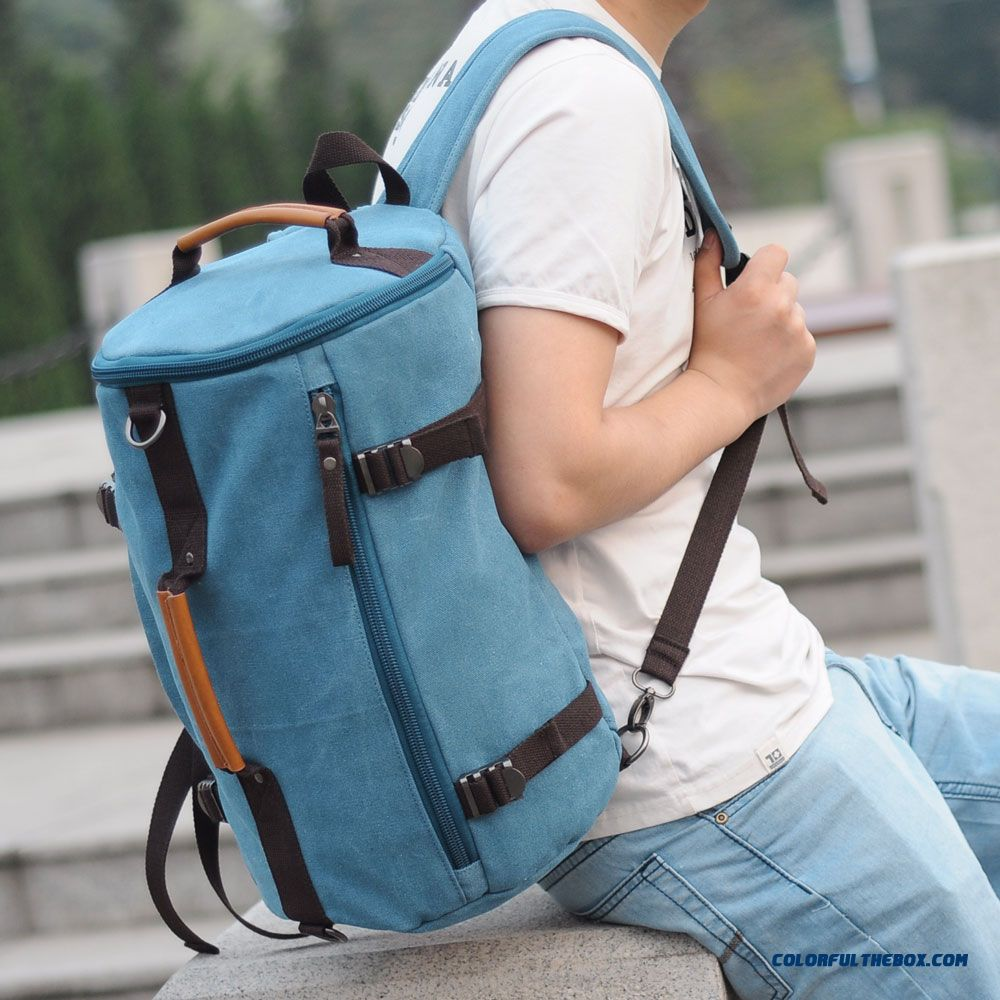 Big Promotion Of Men's Backpack Bucket Bag Shoulder Bag Tide Men Multifunction Hand Messenger Bag