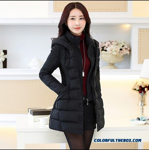 Big Promotion Winter Middle-aged Woman Cotton Clothes Medium Style Black Warm