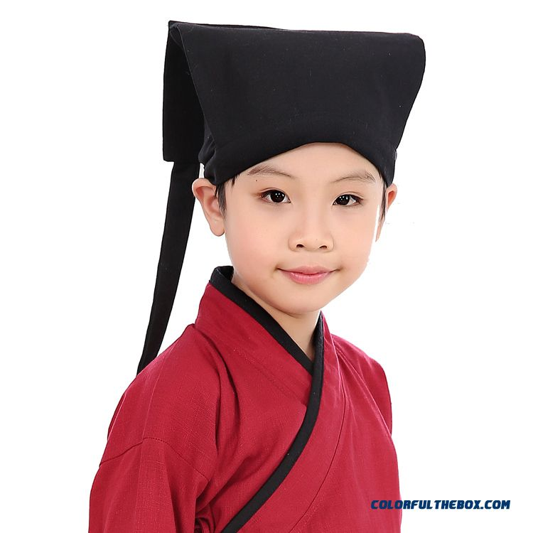 Black Hanfu Caps Ancient Costume Caps Kids Costume Accessories Headdress Boys Hats