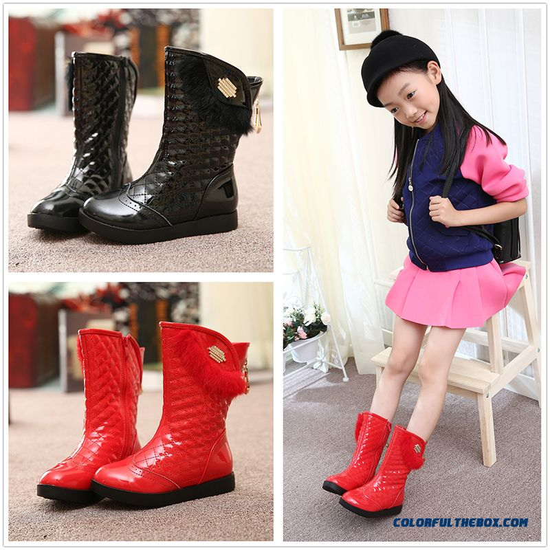 Boots For Girls Leather Boots Shoes Cotton Kids Shoes