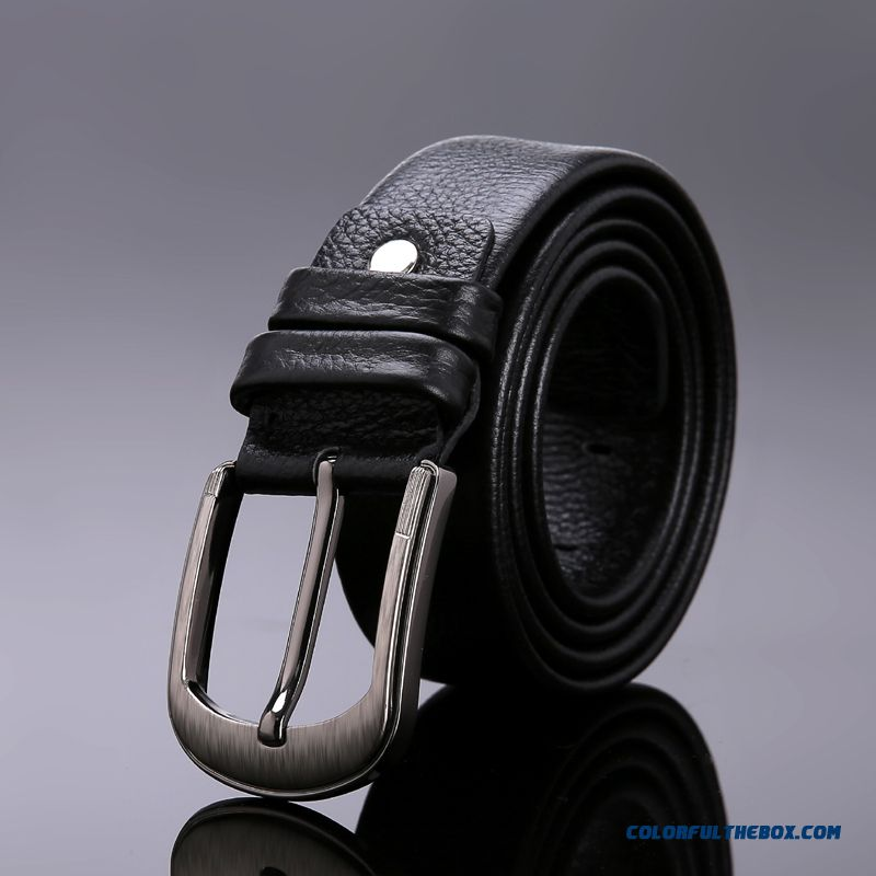 Boutique Gfkf Double Sided First Layer Of Leather Belt Men Leather Belt Pin Buckle Designed Accessories