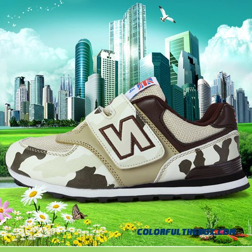 Boutique High-quality Breathable Velcro Camouflage Casual Running Shoes Special Offer For Boys Kids