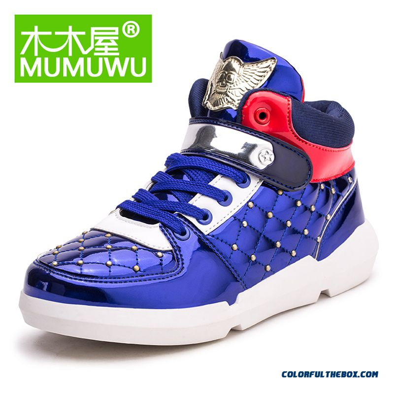 Boy Autumn Korean Fashioable Kids Mid High-top Sneakers Youth Energetic Running Shoes