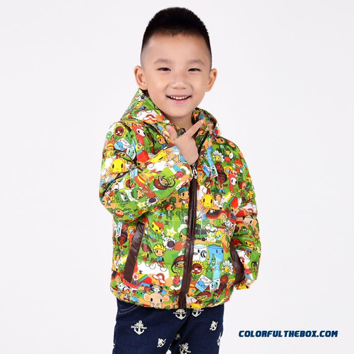 Boy Cartoon Hooded Jacket Small Suit Big Kids Cotton Children's Clothing