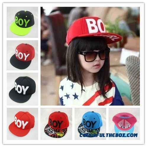 Boy Hip-hop Cap Flat-brimmed Spring Baseball Cap Kids Accessories Unisex Boys And Girls Hats