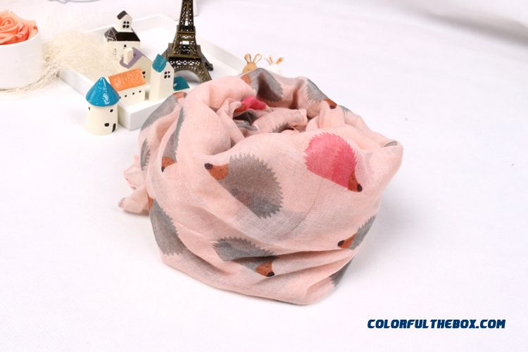 Boy Kids Pure Cotton Voile Yarn Kids Hedgehog Pattern Scarves Special Clearance Free Shipping - more images 2