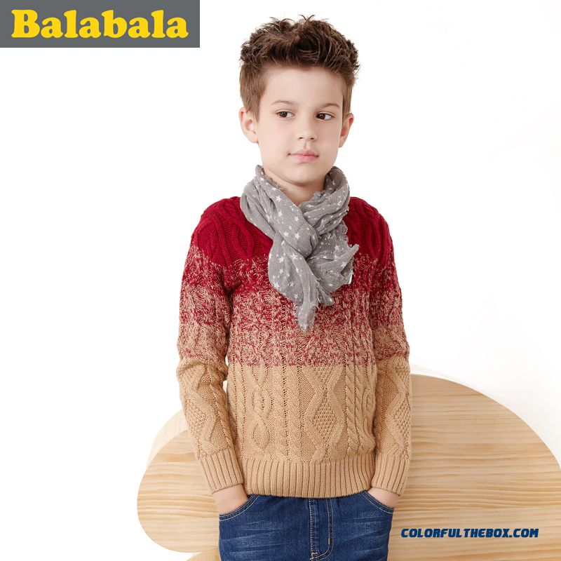 Boy Twist Wool Winter New Sweater Knitted Clothing 2016 Latest Design For Big Kids