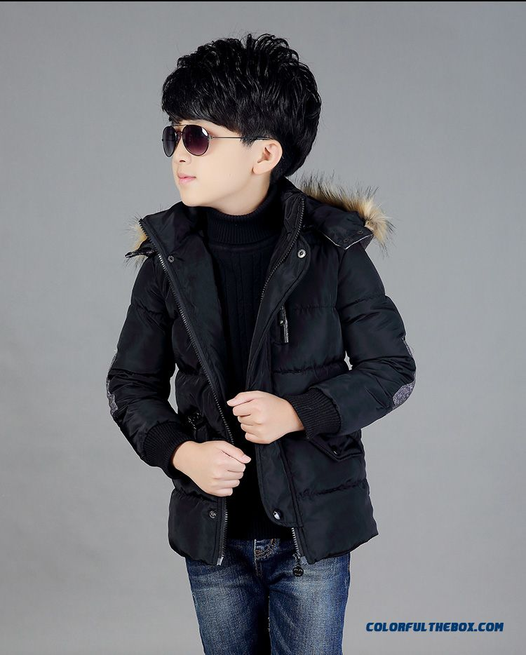 Boy's Coat Of 6-7-8-9-10 Years Old Kids Winter Coat Thick Jacket