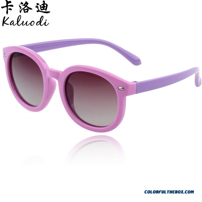 Boys And Girls Children's Sunglasses New Authentic Polarized Sunglasses Kids Soft Anti-purple Line Dark Glasses