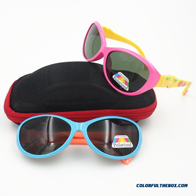 Boys Kids Polarized Sunglasses Goggles Girls Soft Material Multicolor Cute Accessories