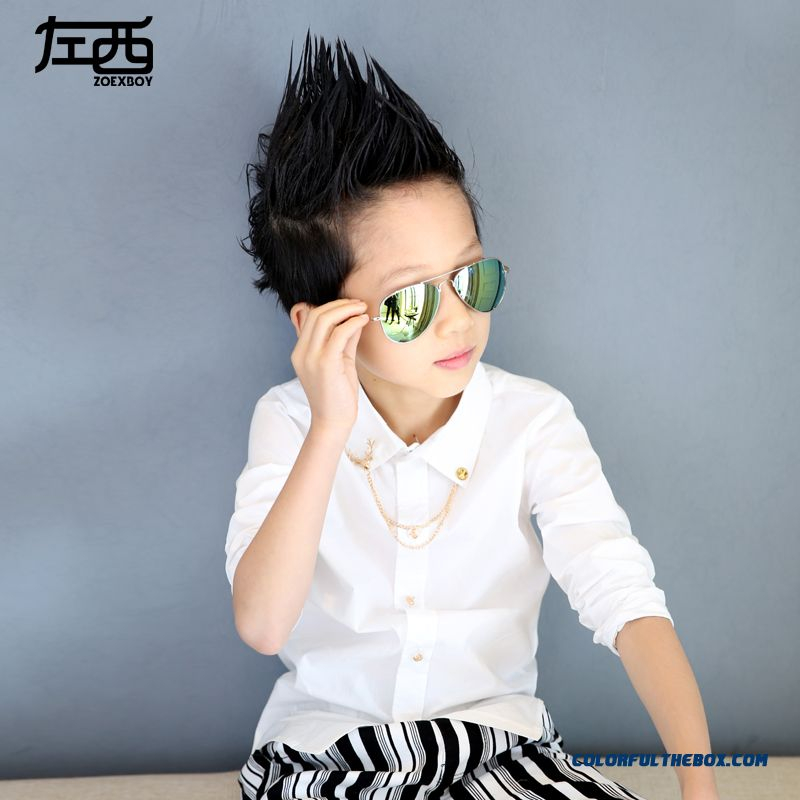 Boys Long-sleeved Shirt Spring And Autumn Fashionable Kids Clothing