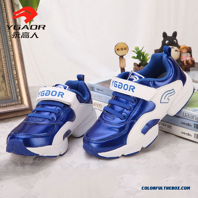 Boys Sports Shoes Genuine Leather Spring Kids Lightweight Basketball Shoes