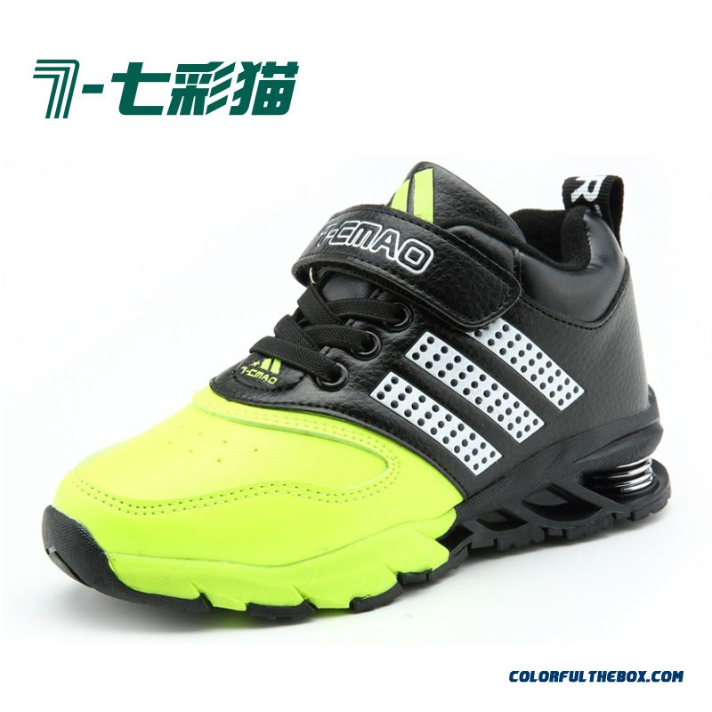 Boys Spring Shoes Plus Velvet Children's Kids Shoes Basketball Shoes Shock Absorption Shoes
