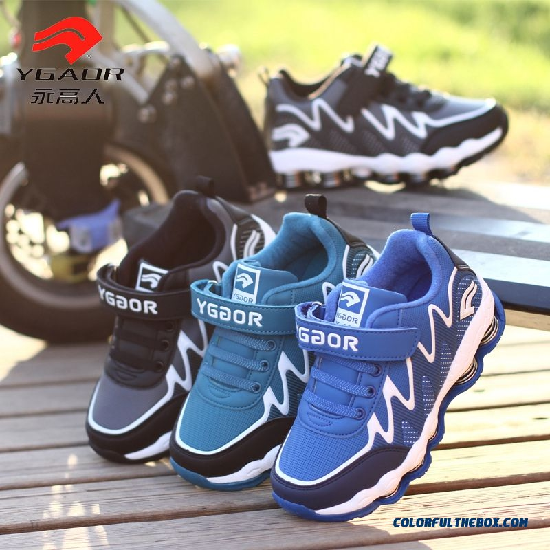 Boys Spring Sports Shoes Kids Spring Bottom Shock Absorption Basketball Shoes
