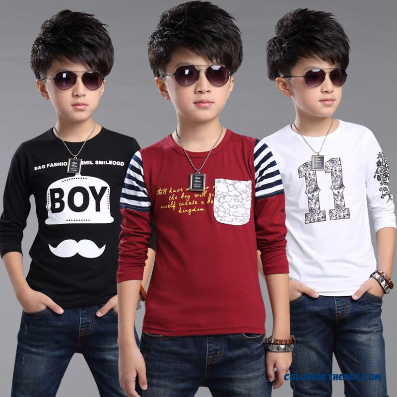 Boys T-shirt 2016 Spring New Children's Kids Long-sleeved Casual Shirt