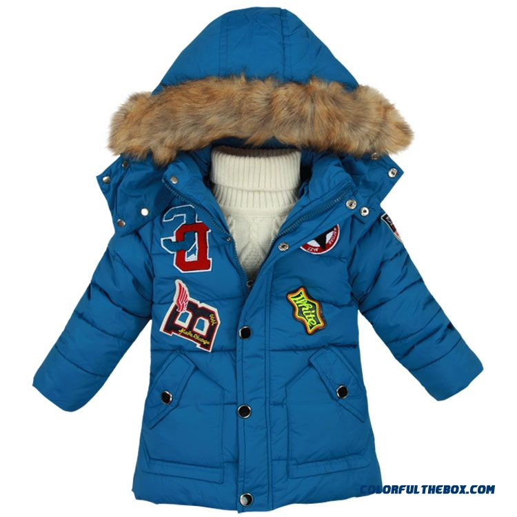 Boys Thick Winter Coat 4kids Children 5 Years Old Boy Padded Jacket Free Shipping