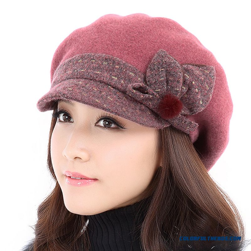 Brand 2015 Fashion Winter Hat Winter Wool Hat Women Fashion Face-lift Hat  Thick Warm 2c8355abac