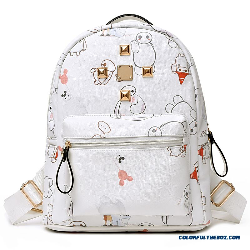Brand Printing Flowers Travel Backpacks Travel Waterproof Floral Personality Packet For Women