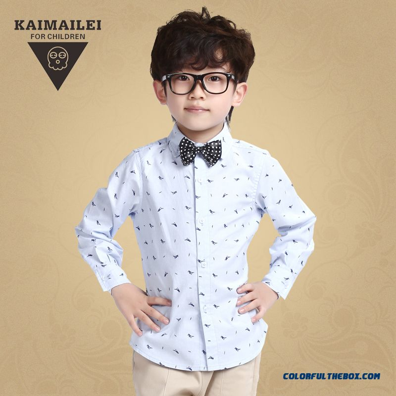 Breathable Costumes Simple Floral Fashionable Boys Shirts Kids Clothing