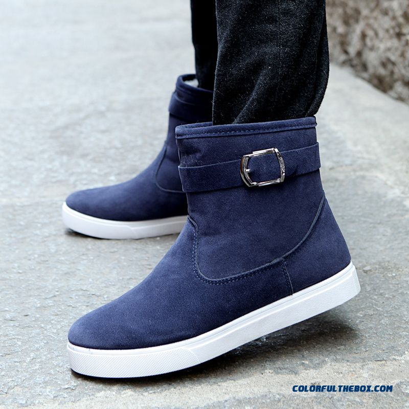 British Style Winter Snow Boots Men Warm Leather Short Hot Selling