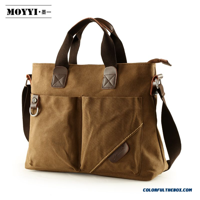 Business Casual Shoulder Bag Portable Canvas Crossbody Bags Special Sale For Men