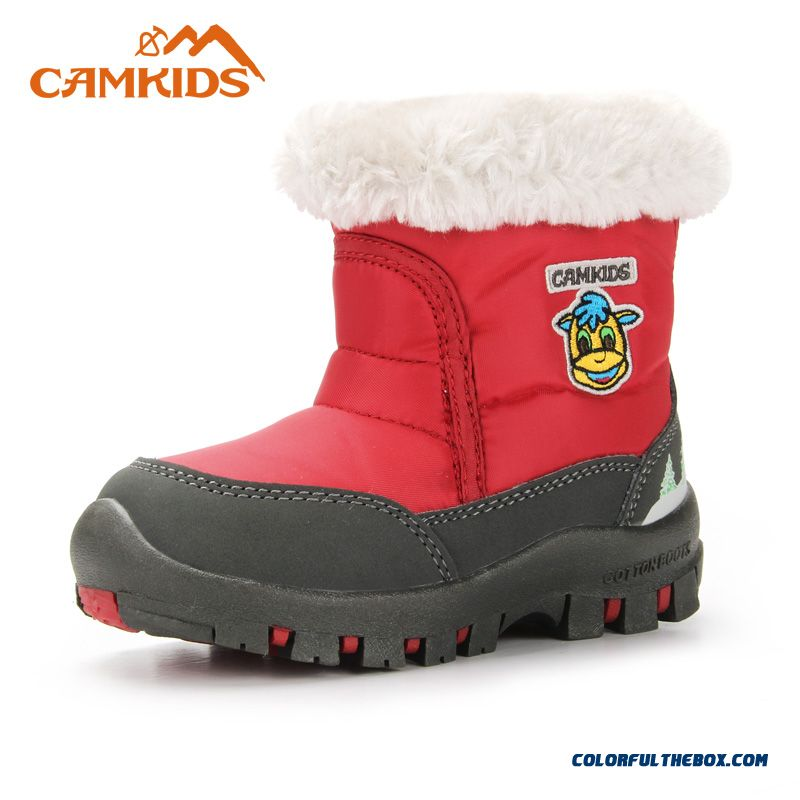 Camkids Boys Outdoors Cotton Boot In The Middle Of The Tube Boots Baby Kids Thick Warm Boots