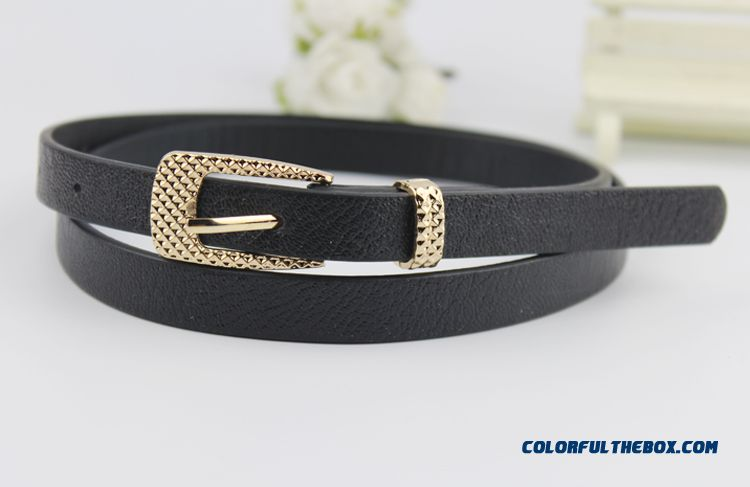 Candy Color Thin Leather Belt Belt Korean Fashion New Free Shipping Foe Women - more images 4
