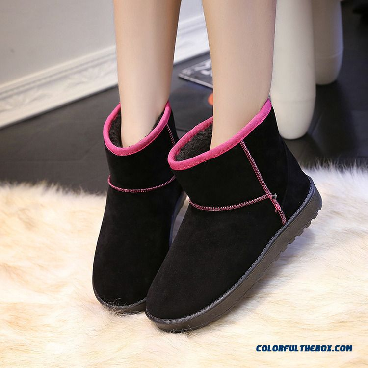 Candy-colored Snow Boots Warm Spell Color Anti-skid Bottom Women Shoes