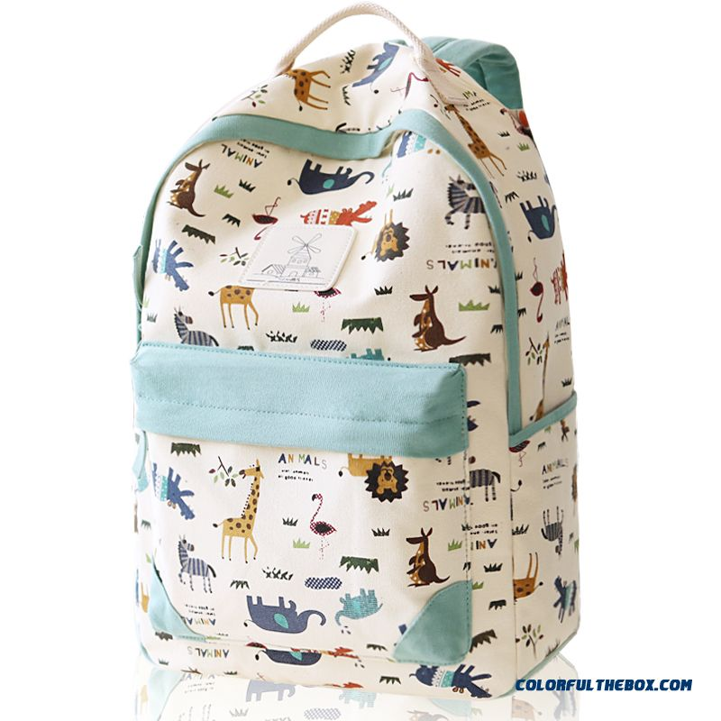 f6ba0a371732 Canvas Wearable Backpack Animal Print Travel Backpacks Student Girl  Schoolbags For Women
