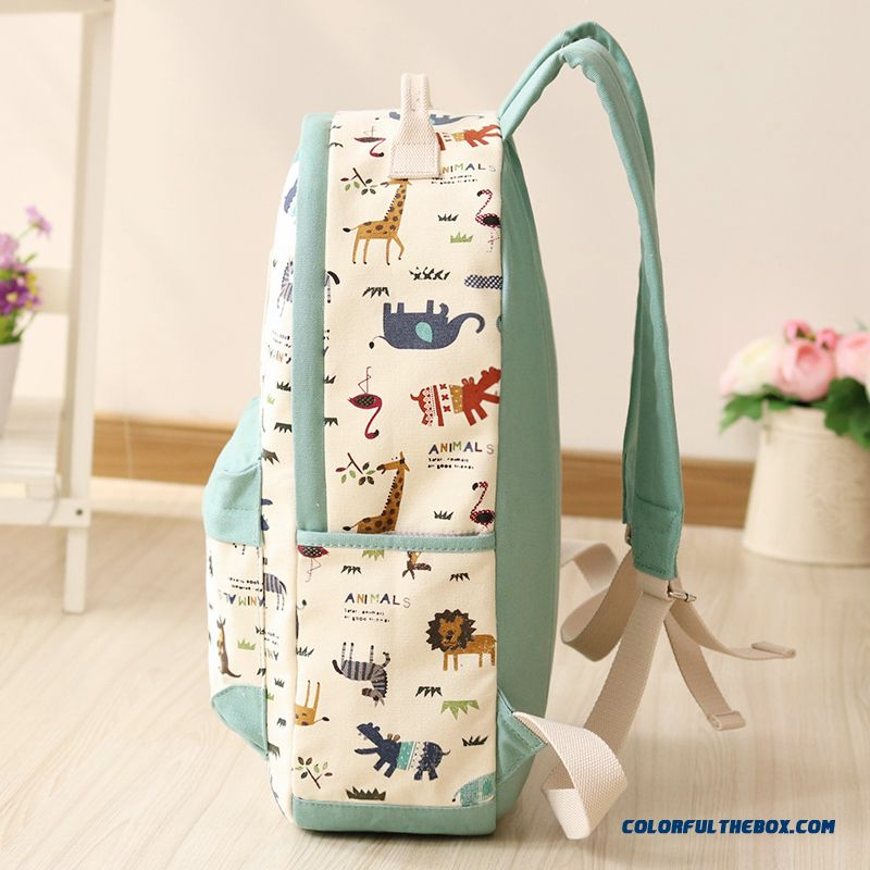 64349f387a50 ... Canvas Wearable Backpack Animal Print Travel Backpacks Student Girl  Schoolbags For Women - more images 4