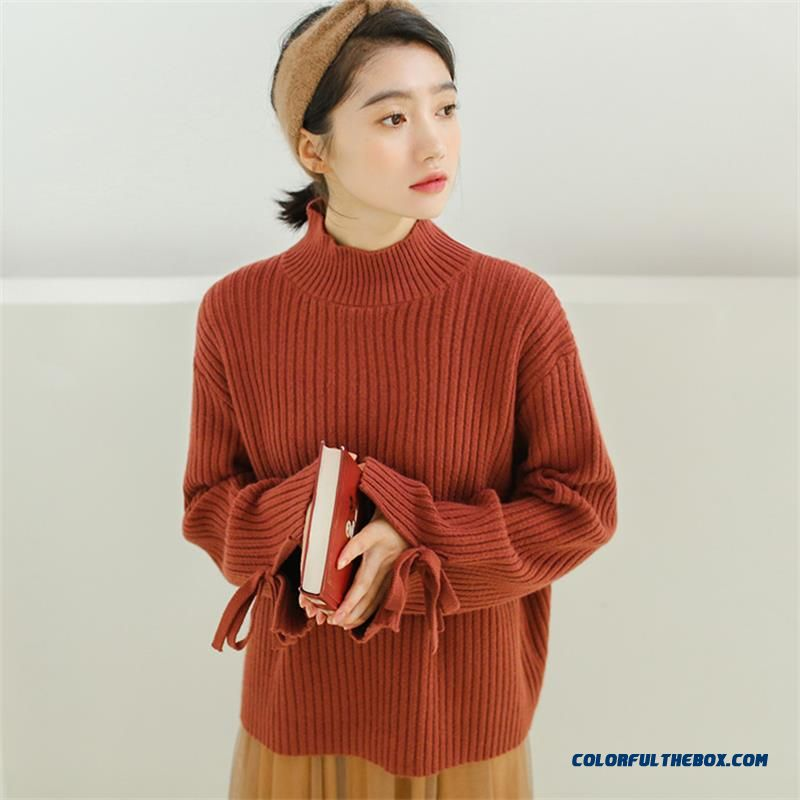 Casual Loose Solid Color Sweater Women's Sweaters Japanese Harajuku Ulzzang Female Korean Kawaii Cute Clothing For Women