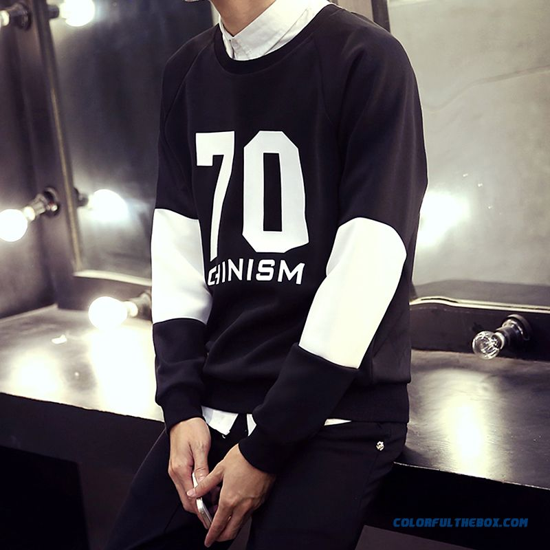 Casual Pullover Round Neck Sweatshirts Loose Large Size Men Sweatshirts - more images 1