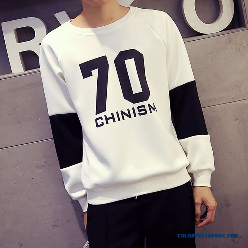 Casual Pullover Round Neck Sweatshirts Loose Large Size Men Sweatshirts - more images 4