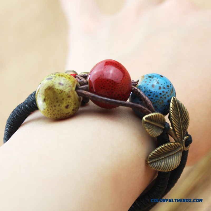 Ceramic Jewelry Chic Ethnic Style Bracelet Bangle Women Prefer Jewelry